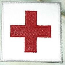 Iron On/ Sew On Embroidered Patch Badge Flag Red Cross