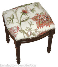 "STOOLS - ""WAVERLY MANOR"" NEEDLEPOINT STOOL - VANITY SEAT - CREAM"