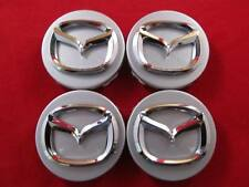 4 NEW Mazda 3 5 6 CRX-7 CRX-9 Miata 626 MPV Millenia WHEEL CENTER CAP SILVER