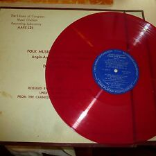 FOLK 33 RPM LP RECORD - FOLK MUSIC OF THE UNITED STATES - LIBRARY OF CONGRESS