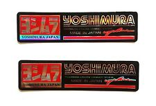 2 x YOSHIMURA Reflective Stickers Decal  Motorcycles Racing Team Embossed Foil
