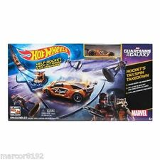 Hot Wheels Guardians of the Galaxy Track Set Play set W/ Vehicle Mea Drop New