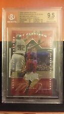 99 UPPER DECK ATHLETE OF CENTURY PLATINUM MICHAEL JORDAN BULLS AUTO 1/1 BGS 9.5