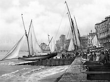 HASTINGS YACHTS STARTING ENGLAND VINTAGE OLD BW PHOTO PRINT POSTER ART 908BWLV