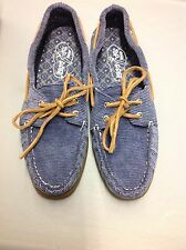 NIB SPERRY TOP SIDER A/O BOAT SHOES WASHED CORDUROY SIZE 8M BLUE