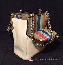 Vintage COACH Bonnie Cashin Double Kisslock Swing Bag, Beige, Mexican Stripes