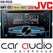 JVC KW-R520 Double Din MP3 WMA CD USB AUX In Car Stereo Radio Receiver Player