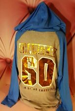 Victorias Secret PINK San Diego Chargers Hoodie NFL Jersey Metallic NWT L Large