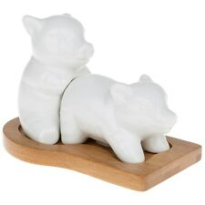 bamboo pigs salt and pepper pots novelty gift ceramic fun set shakers cruet