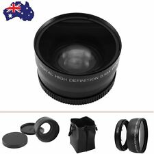 AU 2 in 1 58mm Digital Definition 0.45X Super Wide Angle Lens Macro For Canon