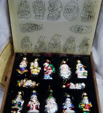 Thomas Pacconi Classics 2003 Collection SANTA Ornaments Set of 12 + Box & COA