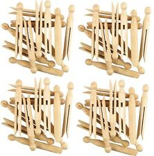 96 X TRADITIONAL WOODEN DOLLY PEGS HIGH QUALITY CLOTHES LINE WASHING FREE P&P