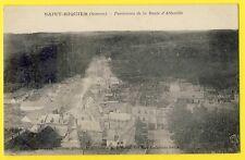 cpa 80 - SAINT RIQUIER (Somme) La ROUTE d'ABBEVILLE prise de l'ABBATIALE