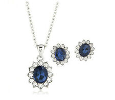 Unique Necklace earrings 18K Gold Plated Austrian Crystal jewelry sets