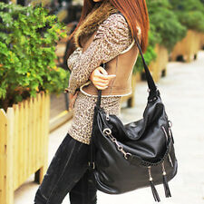 Fashion Women Korea PU Leather Message Purses Totes Handbags Tassel Shoulder BAG