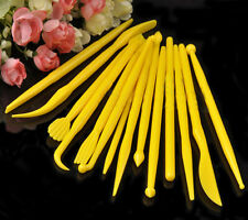 14PC/SET Yellow Double-ended Fondant Modelling Kits Cake Sculpting Tools