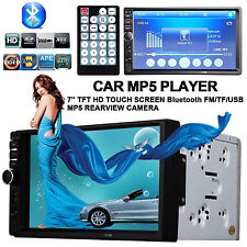 "7"" Touch Double 2 DIN Bluetooth Car MP5 MP3 Player Headunit Radio Stereo AUX USB"