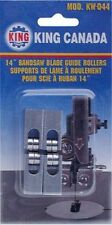 """King Canada Tools KW-044 BALL BEARING BANDSAW BLADE GUIDE ROLLERS KW044 14"""" SAWS"""