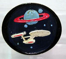 Vintage 1980s Hand Painted Star Trek Metal Belt Buckle- FREE S&H