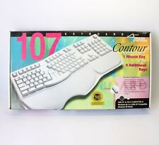 New Mouse Systems SK-6000 Contour 107 Computer Keyboard IBM PS/2 Compatible