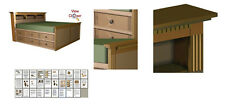 Woodworking Project Paper Plan to Build a High Storage King Bed