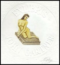 May Lorentz C3 Exlibris 1987 Act Erotic Erotik Nude Woman Sex s224