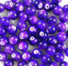 50Pcs 8mm Lampwork Round Czech Glass Spacer Loose Beads DIY Craft