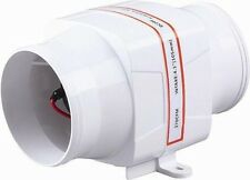 "SEAFLO 4"" In-Line Marine Bilge Air Blower 12V 270 CFM Quiet Boat White"