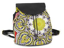 Auth GIANNI VERSACE Chain Backpack Bag Purse Nylon Italy 18545810 2166