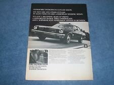 """1973 Oldsmobile Salon  Vintage Ad """"It's Not Like Any Other Cutlass"""" Olds"""