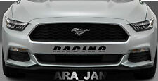 RACING Vinyl skirt Decal sport sticker decals bumber logo fits MUSTANG BLACK