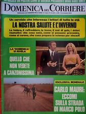 Domenica del Corriere 46 1972 Carlo Mauri sulla strada di Polo. Canzonissima C50