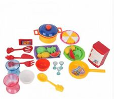 Food Play Kitchen Toy Pretend Set Cooking Toys Playset Lot Plastic Kid Piece Fun