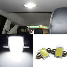 2 x White 31mm 12-COB-LED Bulbs Car Interior Dome Map Lights DE3175 DE3022 DQ-1
