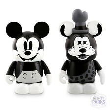 "Disney Parks Vinylmation 3"" Classic Collection Mickey Mouse Goofy LE"