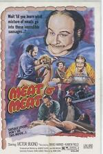 THE MAD BUTCHER/MEAT IS MEAT original 1974 HORROR movie poster VICTOR BUONO