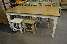French Provincial  Hamptyons  Oak Dining Table with White legs 180x90