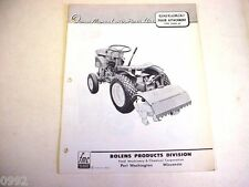 Bolens Lawn & Garden Tiller Attachment Owner Manual & Parts List Manual