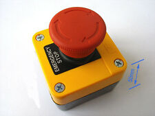 Red Sign Emergency Stop Push Button 660V 10A AC Switch CE