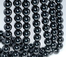 10MM BLACK TOURMALINE GEMSTONE GRADE AA ROUND LOOSE BEADS 7.5""