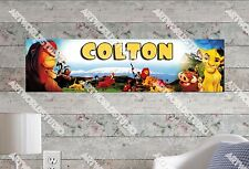 Personalized/Customized The Lion King Name Poster Wall Art Decoration Banner