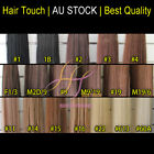 24 inches Clip in Remy Human Hair Extensions Black Brown Blonde