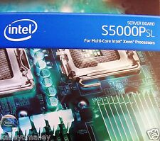 "Intel S5000PSLSASR DDR2 LGA771 SSI EEB (12"" X 13"") Server Board New Retail Box"