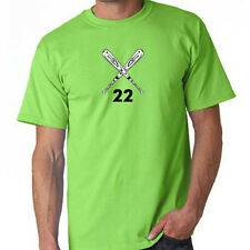 Baseball Softball Crossed Bats Custom # Your Number T-Shirt Custom Team Shirts