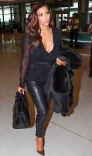 TOM FORD BLACK LEATHER LEGGINGS IT 40 UK 8 US 4