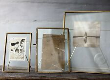 "Antique Brass & Glass Picture Photo Frame 8 x 10"" - Danta by Nkuku"