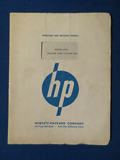 HP 400D VOLTMETER OWNERS SERVICE MANUAL ORIGINAL FACTORY ISSUE v2