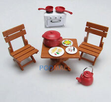 Dollhouse Miniatures furniture Picnic Set For Sylvanian Families Dolls