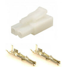 Battery Charger Connector Plug with Terminals (Accumate Compatible) NATURAL