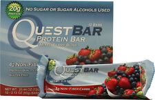 Quest Nutrition Mixed Berry  Protein Bar  12 Box  High Fiber Sugar FREE